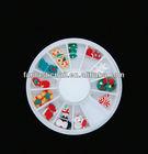 Mxied Design 3D Christmas Resin Nail Art Decoration Wheel Box Set,FN-132