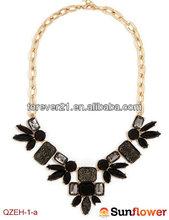 Ali Express Beautiful Black Bead & Crystal Collar Statement Bib Necklace
