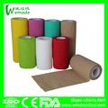 Ce aprobado por la fda de color no tejido cohesivo vendaje elástico( oem disponible)