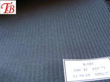 black/C 90/10 100*45 133*72 HERRINGBONE MEN SUIT POCKETING FABRIC