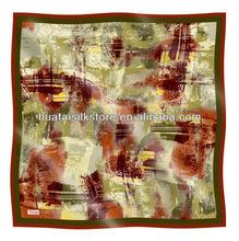 Silk muslim square scarf - Lady fashion silk muslim square scarf