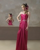 2014 Kebaya Sweetheart Chiffon Floor Long Ruched Beaded Sexy Red Bridesmaid Dress