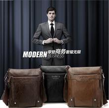 High quality fashion men's leather shoulder bags pu messenger men bag