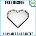 free design japon standard de qualité heart shaped miroir de maquillage