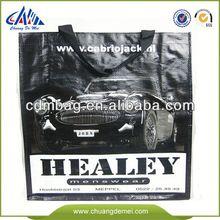 China Green Laminated pp woven shopping bag supplier