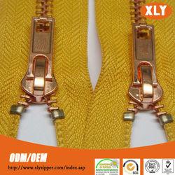 Original zipper manufacturer #5 open end rose gold metal zipper