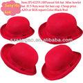 ที่กำหนดเองหรือสีแดงขายส่งมินิรู้สึกหมวกขนสัตว์ที่มีรูปแบบแฟชั่น