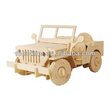 2014 New Robotime 3D R/C DIY Wooden Building Puzzle car for boys