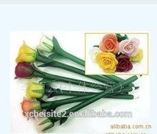 S030 flower creative Rose custom plastic polymer clay Pen