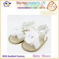 Moda Popular batizado creme liso bebê china sandália