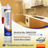 General Purpose Wide Application Waterproof Acetic Liquid Silicone Sealant