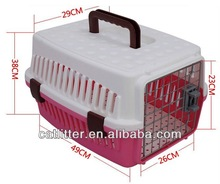 sample free high quality plastic dog or cat cage health pet carrier with handle