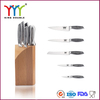 Best stainless steel knife with wooden block