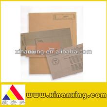 vendita calda busta di carta kraft marrone e carta da lettera