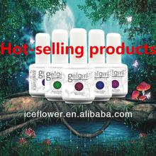 [I.C.E]Hot sale!!wholesale factory 100% original soak off uv gel nail polish,makeup uv gel nail polish top base coat