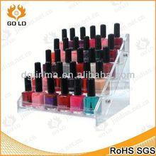 logo printing acrylic wall nail polish display,top grade display unit for nail polish