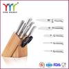 stainless steel knife set with Oaken Block
