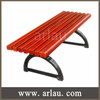 FW15 Outdoor Wood Park Bench with Cast Iron Legs