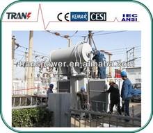 8MVA 66KV 3 phase oil immersed toroidal winding isolation power transformer
