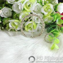 2014 rhinestone ribbon buckle round shape for invitations