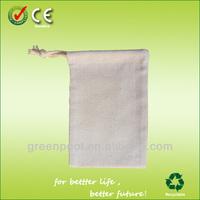 2015Portative cotton linen drawstring bag