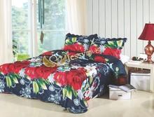 3d reactive printed bedding duvet cover set 4pcs queen size bedding patchwork quilt