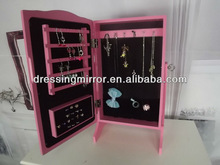pink small diy wooden jewelry armoire