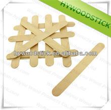 Wholesale Disposable Natural Wood Tongue Depressor Flat Edge