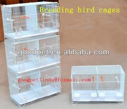 White wood standing pole breeding bird cage
