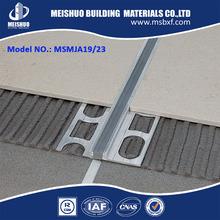 Aluminum Metal Tile Edge Trim/Movement Joint with Neoprene Rubber Insert