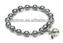 Elastic band murano glass bracelet