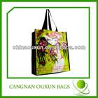 Durable reusable vinyl tote shopping bag