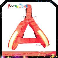 Pet dog harness Retractable nylon flashing chest harness Pet safety accessory Pet belt B5017