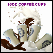 12oz 16oz disposable hot sell single wall paper cups/hot or cold berverage use paper cups with customer's logo