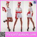 grossista sexy plain white enfermeira fantasia trajes