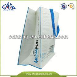 Green Promotional rose shape folding shopping bag