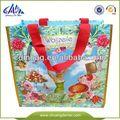 verde promocional de pescado reutilizables bolsa de la compra