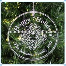 Round Cheap Wholesale Acrylic Name Ornament For Holiday Gift