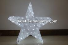 3D LED christmas acrylic star motif light