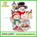 2014 3d artesanías de papel brillo del recorte del muñeco de nieve de navidad para la decoración de centro comercial