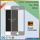 Cell Phone Accessory for Iphone 5 Tempered Colored Glass Guard