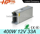 Factory sell CE RoHS high power constant voltage single output AC DC regulated 33A 12V led switching mode 400W power supply