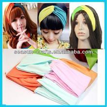 Wholesale Custom Classic two-tone yoga sport elastic alice hair band , 26*8 cm