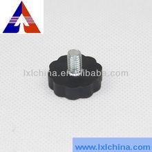 D22*6.5*M8*10 PA6 Plum Blossom Shape Adjustable Plastic Knob for Furnitures