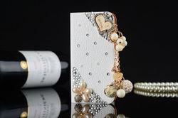 lovely crystal diamond rhinestone leather case for samsung galaxy s5