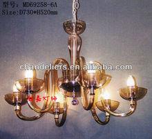 Stylish simplicity transparent acrylic chandelier, six light