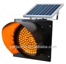 2014 Hot Sale !! Solar traffic light solar led flashing warning light