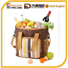 600 D fashion thermal insulated cooler lunch bag / thermal hot and cold cooler bag