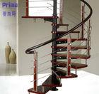 PVC handrail design spiral stairs high quality spiral staircase(PR-S31)