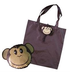 Animal shape dog foldable portable polyester shopping bag